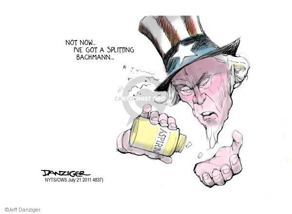 Jeff Danziger  Jeff Danziger's Editorial Cartoons 2011-07-21 Michele Bachmann