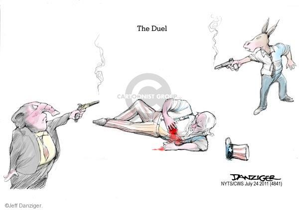 Cartoonist Jeff Danziger  Jeff Danziger's Editorial Cartoons 2011-07-24 federal debt