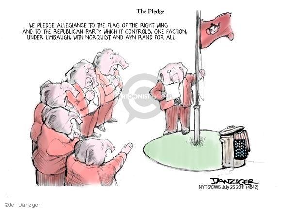 Cartoonist Jeff Danziger  Jeff Danziger's Editorial Cartoons 2011-07-26 flag
