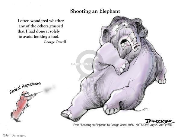 Cartoonist Jeff Danziger  Jeff Danziger's Editorial Cartoons 2011-07-29 republican politician