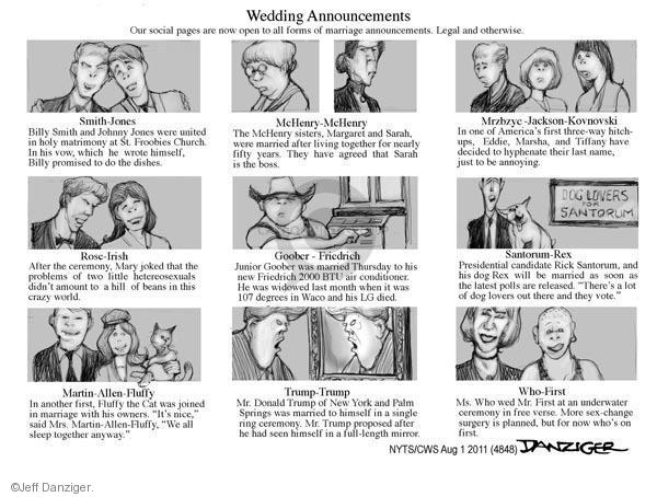 Cartoonist Jeff Danziger  Jeff Danziger's Editorial Cartoons 2011-08-01 legal