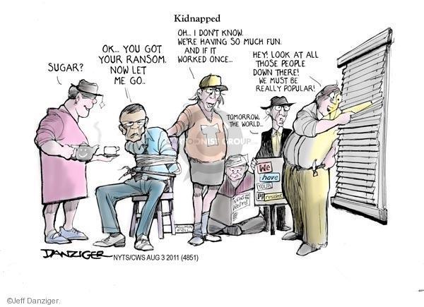 Cartoonist Jeff Danziger  Jeff Danziger's Editorial Cartoons 2011-08-03 limit