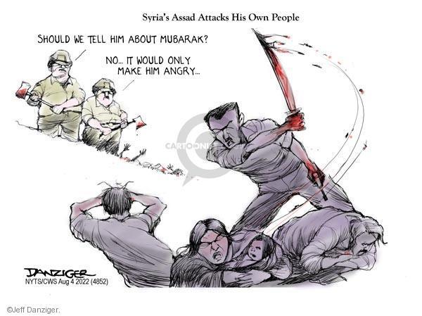 Jeff Danziger  Jeff Danziger's Editorial Cartoons 2011-08-04 Middle East