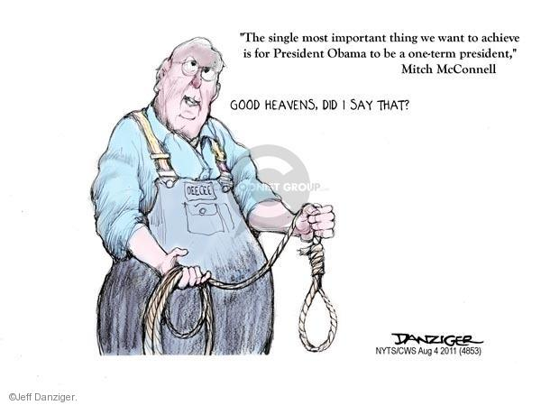 Cartoonist Jeff Danziger  Jeff Danziger's Editorial Cartoons 2011-08-04 republican politician