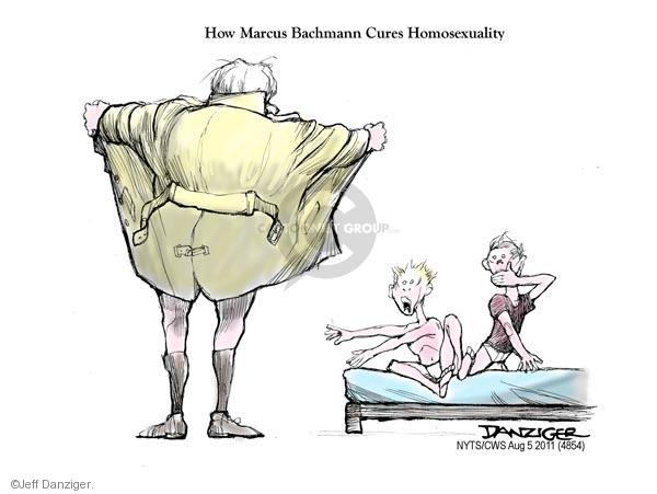 Cartoonist Jeff Danziger  Jeff Danziger's Editorial Cartoons 2011-08-05 Michele Bachmann