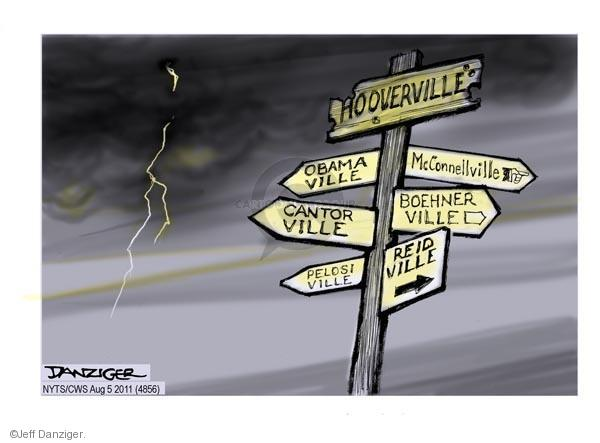 Cartoonist Jeff Danziger  Jeff Danziger's Editorial Cartoons 2011-08-05 recession