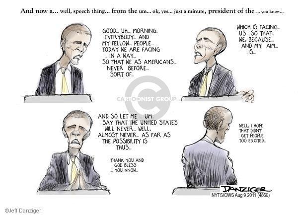 Cartoonist Jeff Danziger  Jeff Danziger's Editorial Cartoons 2011-08-09 American