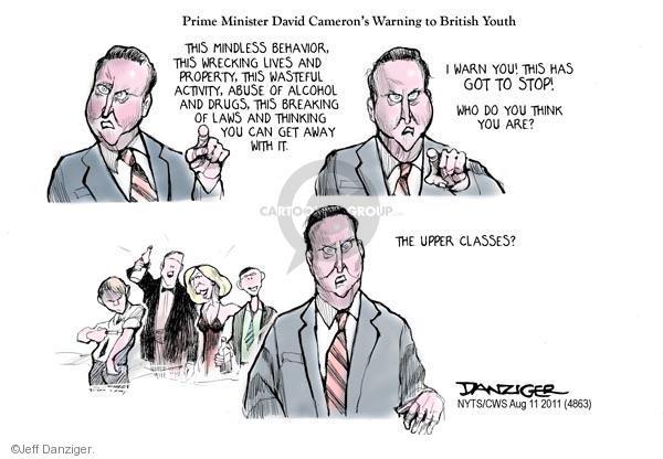 Cartoonist Jeff Danziger  Jeff Danziger's Editorial Cartoons 2011-08-11 riot