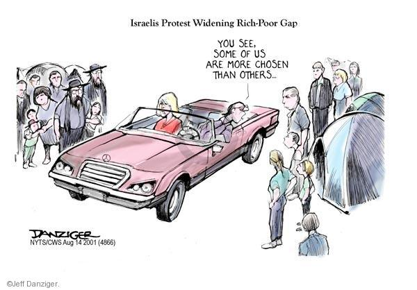 Jeff Danziger  Jeff Danziger's Editorial Cartoons 2011-08-14 United States and Israel