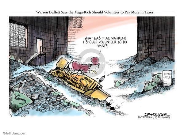 Jeff Danziger  Jeff Danziger's Editorial Cartoons 2011-08-15 Scrooge