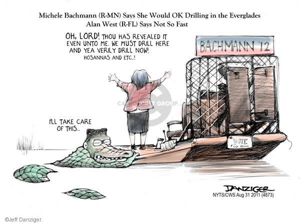 Cartoonist Jeff Danziger  Jeff Danziger's Editorial Cartoons 2011-08-31 Michele Bachmann