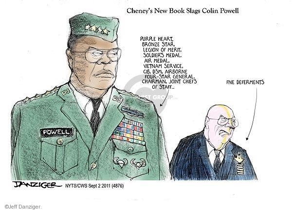 Cartoonist Jeff Danziger  Jeff Danziger's Editorial Cartoons 2011-09-02 Dick Cheney