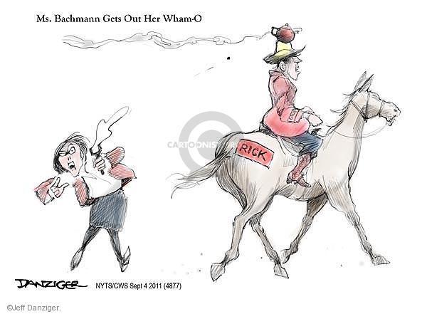Jeff Danziger  Jeff Danziger's Editorial Cartoons 2011-09-04 Michele Bachmann