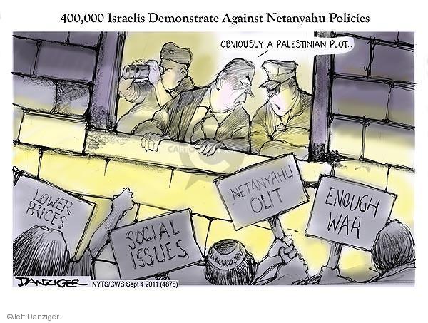 Cartoonist Jeff Danziger  Jeff Danziger's Editorial Cartoons 2011-09-04 Israel