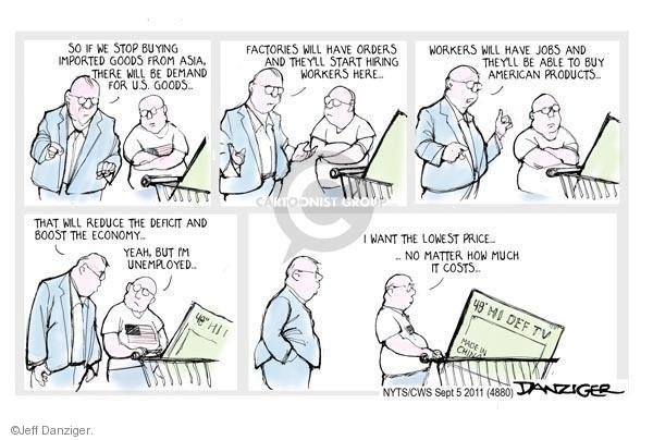 Jeff Danziger  Jeff Danziger's Editorial Cartoons 2011-09-05 United States
