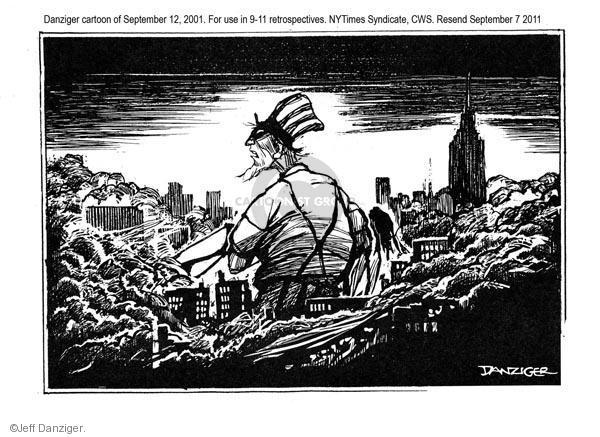 Cartoonist Jeff Danziger  Jeff Danziger's Editorial Cartoons 2011-09-07 September 11, 2001