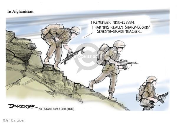 Cartoonist Jeff Danziger  Jeff Danziger's Editorial Cartoons 2011-09-10 September 11, 2001