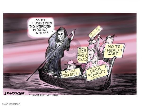 Cartoonist Jeff Danziger  Jeff Danziger's Editorial Cartoons 2011-09-14 party