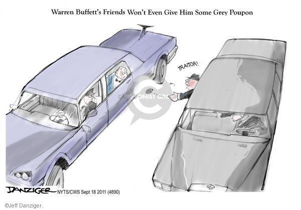 Cartoonist Jeff Danziger  Jeff Danziger's Editorial Cartoons 2011-09-18 traitor