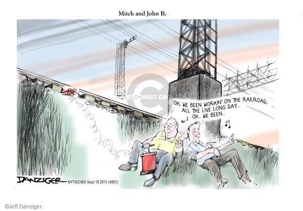 Cartoonist Jeff Danziger  Jeff Danziger's Editorial Cartoons 2011-09-18 speaker