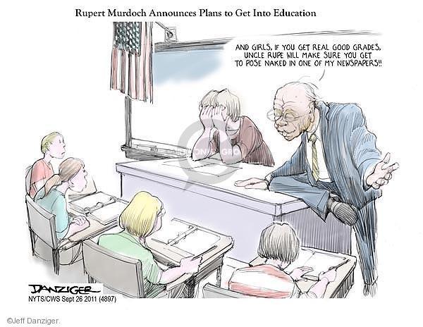 Cartoonist Jeff Danziger  Jeff Danziger's Editorial Cartoons 2011-09-26 high school teacher