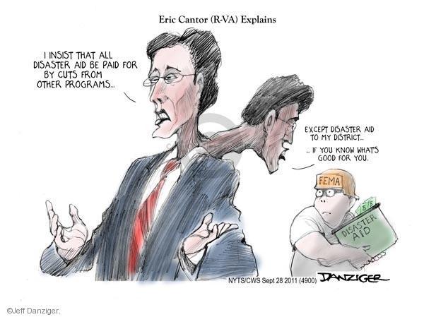 Cartoonist Jeff Danziger  Jeff Danziger's Editorial Cartoons 2011-09-28 Eric Cantor