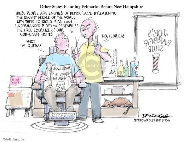 Cartoonist Jeff Danziger  Jeff Danziger's Editorial Cartoons 2011-10-03 plot