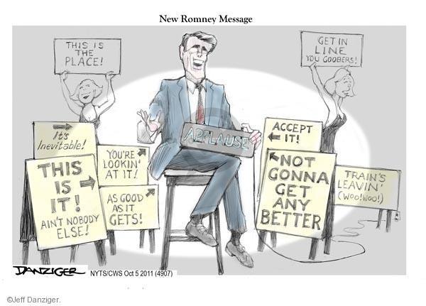 Jeff Danziger  Jeff Danziger's Editorial Cartoons 2011-10-05 new message