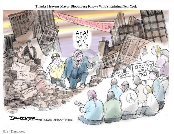 Jeff Danziger  Jeff Danziger's Editorial Cartoons 2011-10-09 corruption