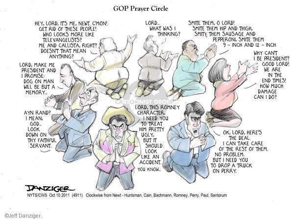 Cartoonist Jeff Danziger  Jeff Danziger's Editorial Cartoons 2011-10-10 Michele Bachmann