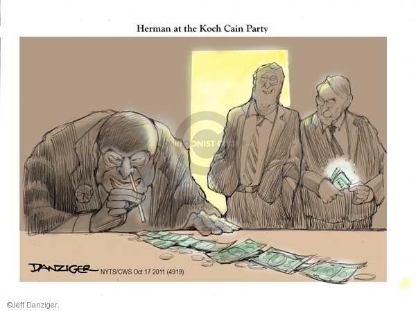 Cartoonist Jeff Danziger  Jeff Danziger's Editorial Cartoons 2011-10-17 party loyalty