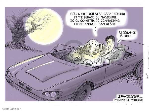 Jeff Danziger  Jeff Danziger's Editorial Cartoons 2011-10-17 2012 debate