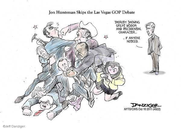 Jeff Danziger  Jeff Danziger's Editorial Cartoons 2011-10-19 2012 debate