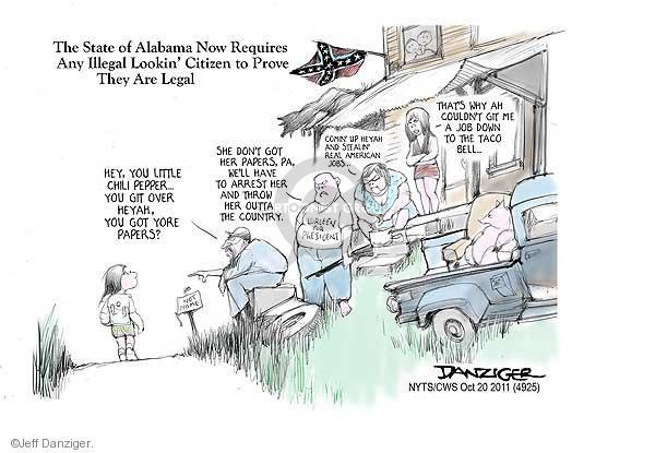 Jeff Danziger  Jeff Danziger's Editorial Cartoons 2011-10-20 rule of law