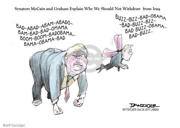 Cartoonist Jeff Danziger  Jeff Danziger's Editorial Cartoons 2011-10-24 John McCain