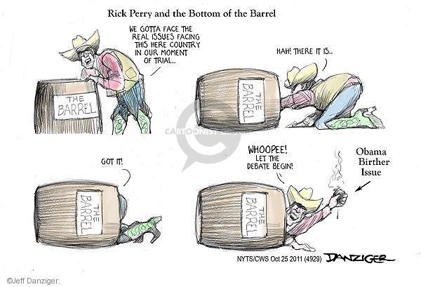 Jeff Danziger  Jeff Danziger's Editorial Cartoons 2011-10-25 2012 debate