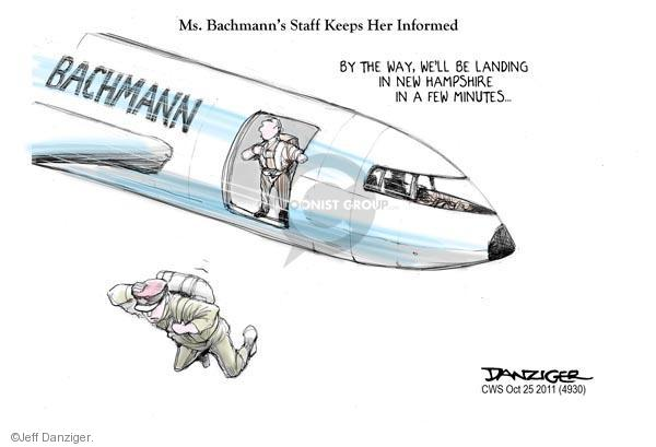 Cartoonist Jeff Danziger  Jeff Danziger's Editorial Cartoons 2011-10-25 Michele Bachmann