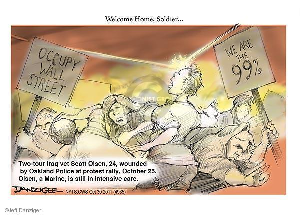 Cartoonist Jeff Danziger  Jeff Danziger's Editorial Cartoons 2011-10-30 rally