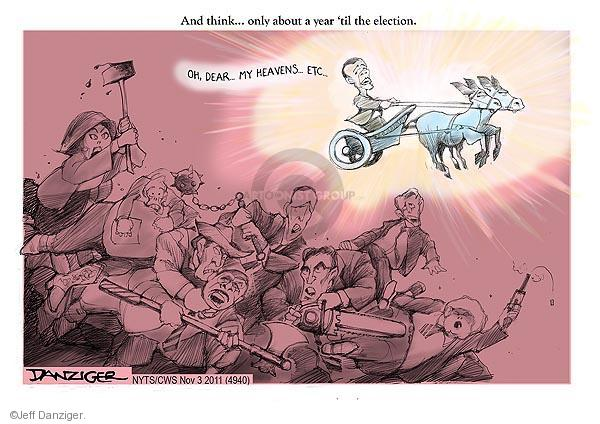 Cartoonist Jeff Danziger  Jeff Danziger's Editorial Cartoons 2011-11-03 Michele Bachmann