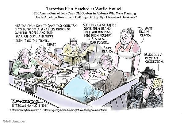 Jeff Danziger  Jeff Danziger's Editorial Cartoons 2011-11-04 terror attack