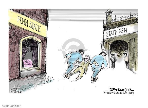 Cartoonist Jeff Danziger  Jeff Danziger's Editorial Cartoons 2011-11-13 sexual abuse