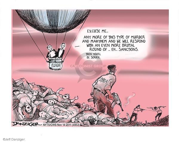 Jeff Danziger  Jeff Danziger's Editorial Cartoons 2011-11-14 Arab revolt