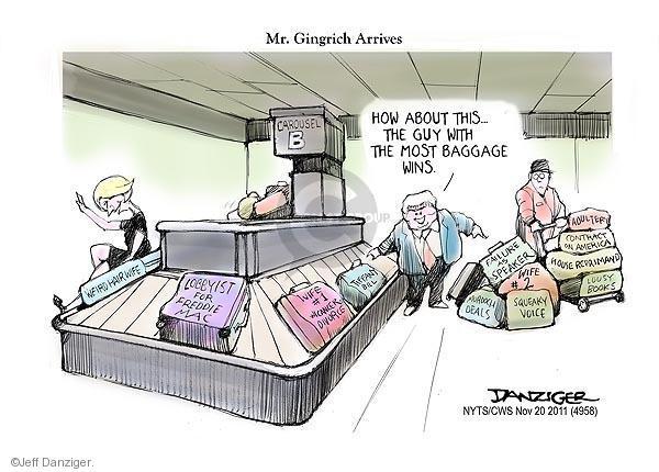 Cartoonist Jeff Danziger  Jeff Danziger's Editorial Cartoons 2011-11-20 republican politician