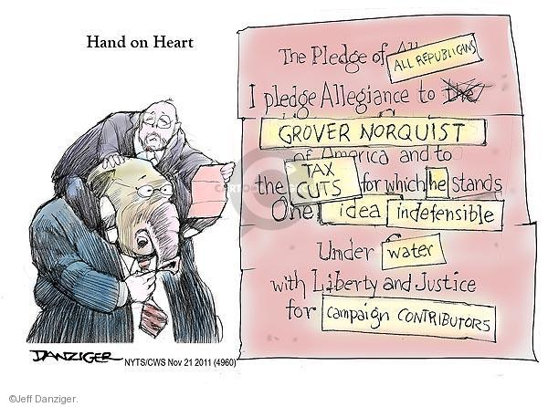 Jeff Danziger  Jeff Danziger's Editorial Cartoons 2011-11-21 tax pledge