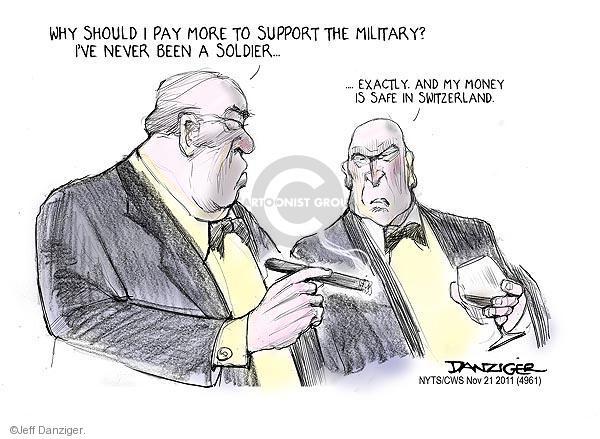 Cartoonist Jeff Danziger  Jeff Danziger's Editorial Cartoons 2011-11-21 support