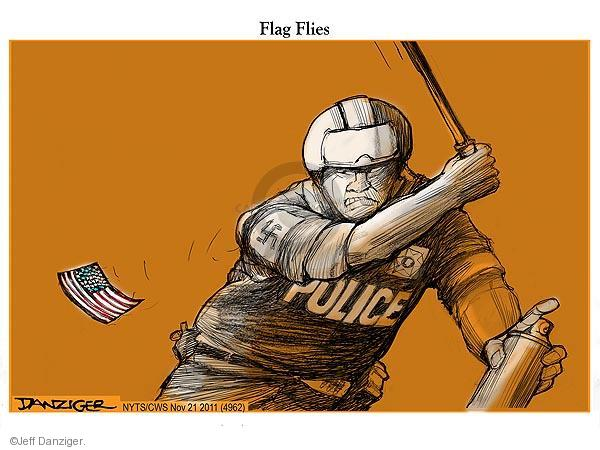 Cartoonist Jeff Danziger  Jeff Danziger's Editorial Cartoons 2011-11-21 flag