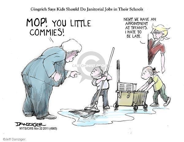 Cartoonist Jeff Danziger  Jeff Danziger's Editorial Cartoons 2011-11-22 candidates republicans