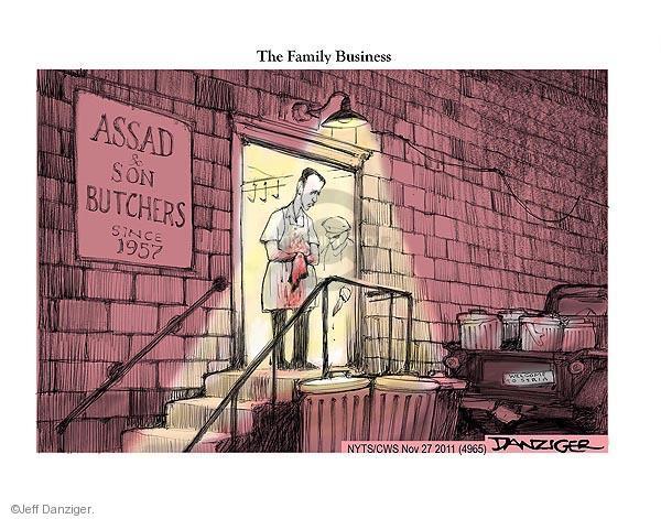 Jeff Danziger  Jeff Danziger's Editorial Cartoons 2011-11-27 1950s