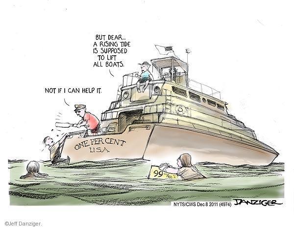 Jeff Danziger  Jeff Danziger's Editorial Cartoons 2011-12-08 yacht