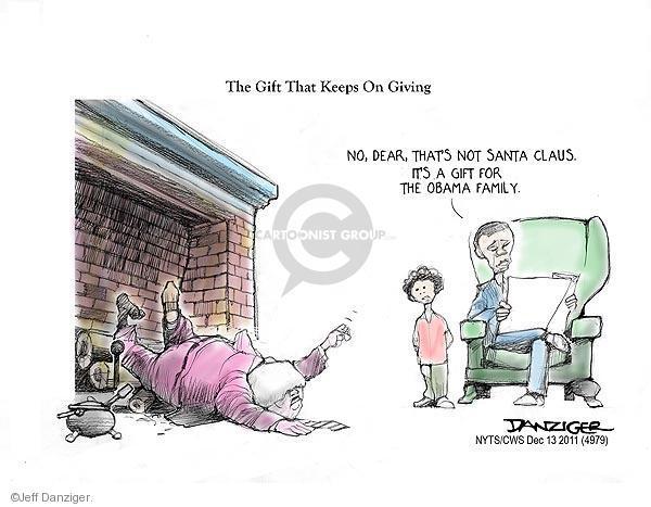Cartoonist Jeff Danziger  Jeff Danziger's Editorial Cartoons 2011-12-13 republican politician